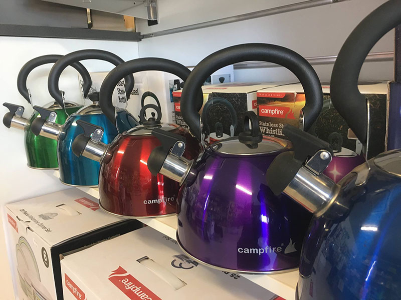 Exmouth Caravans Campfire kettles for camping